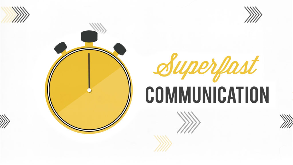 5 Ways Animation Can Improve Your Communication, Clock and super fast communication