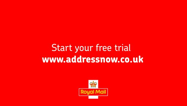 Call for action screen for royal mail