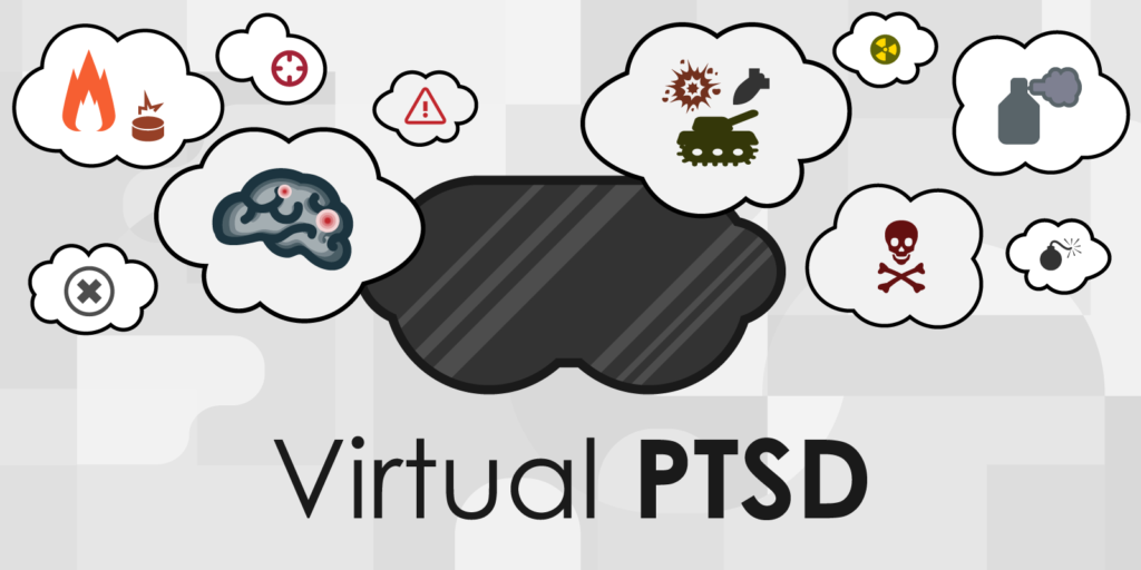 PTSD Virtual Reality Image - Items In Cloud