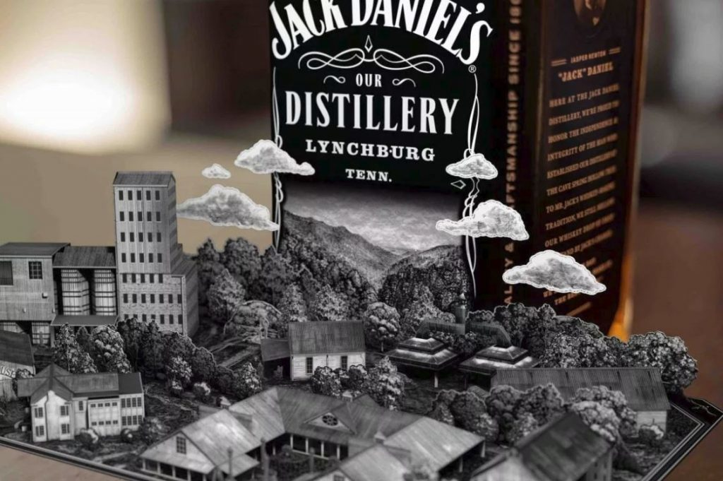 Jack Daniels Augmented Reality AR Label