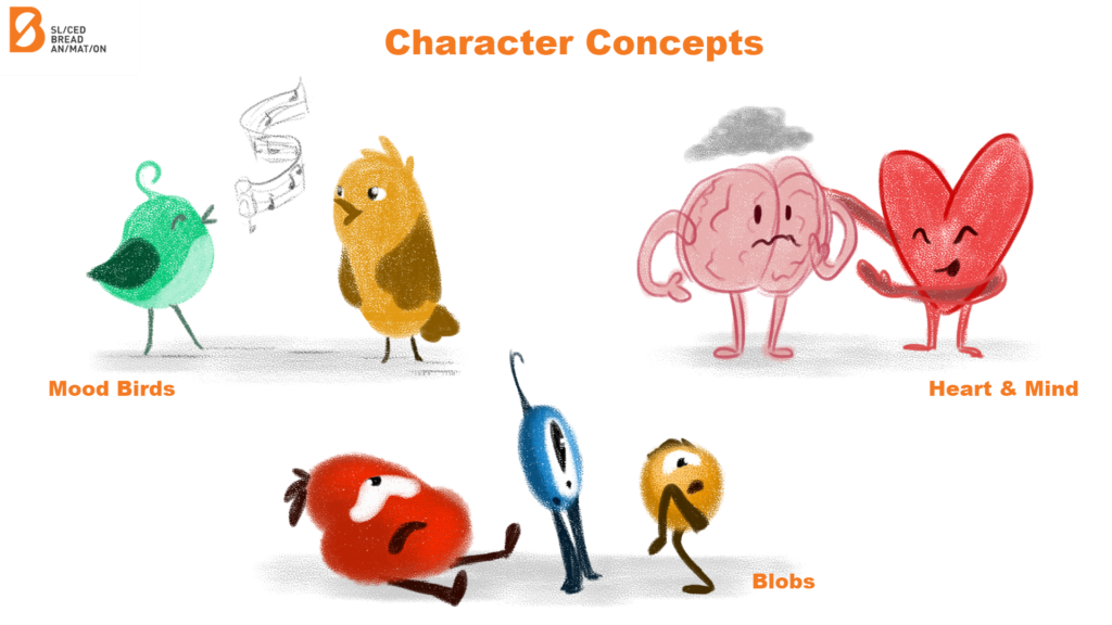 Different Character Concepts For Mental Health Animation