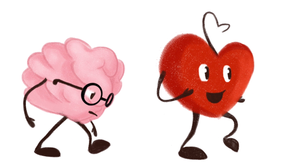 Mental Health Animation Heart And Brain Walk Test