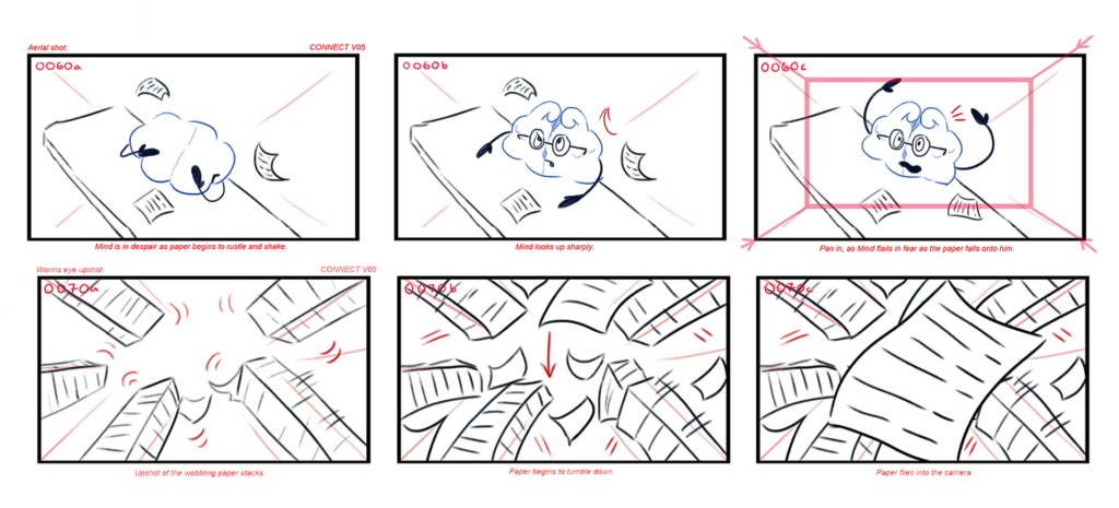 Mental Health Animation Perspective Storyboards