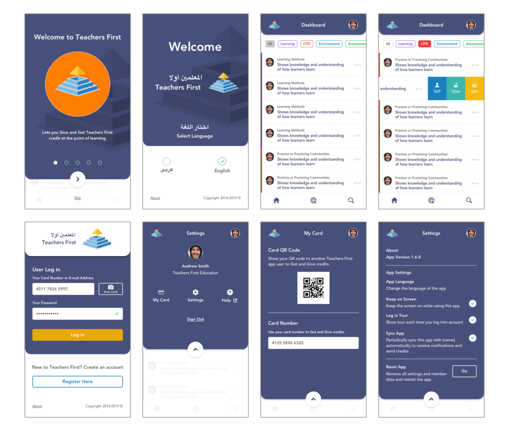 Lengo learning application multiple screenshots