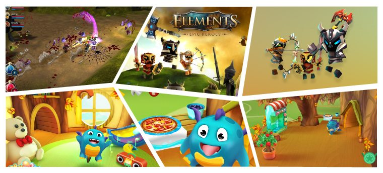 Six Thumbnail Images Of Unity Games
