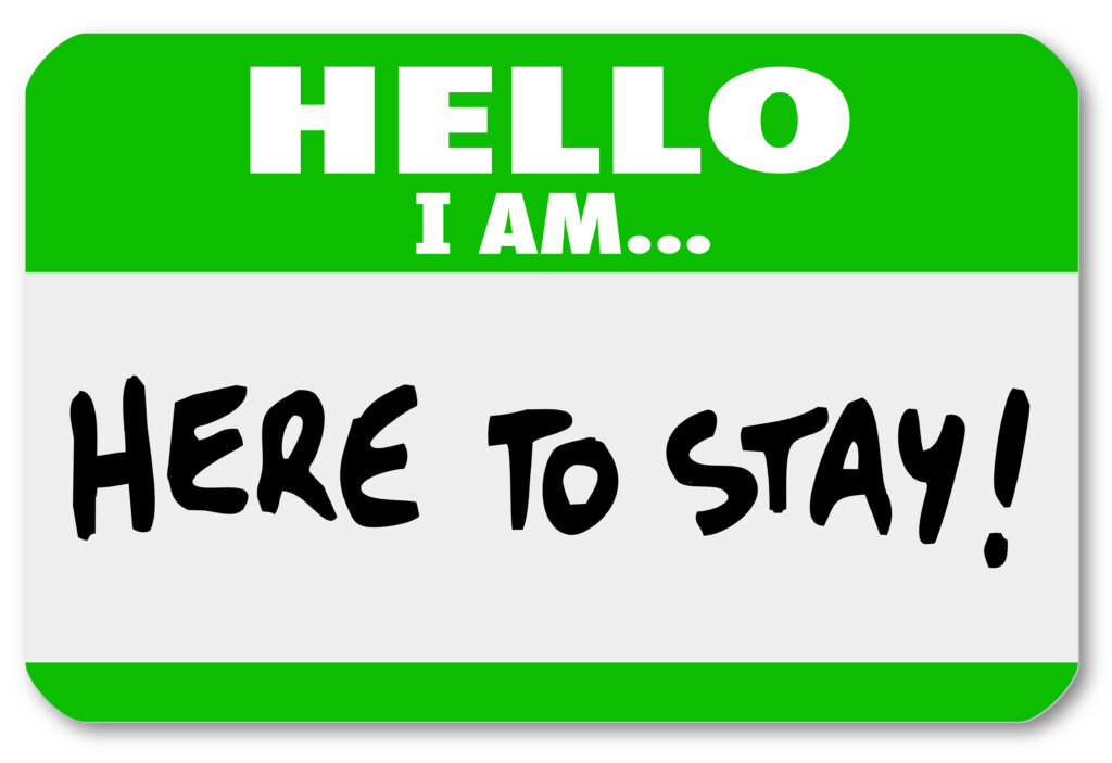 bright green hello I am name badge