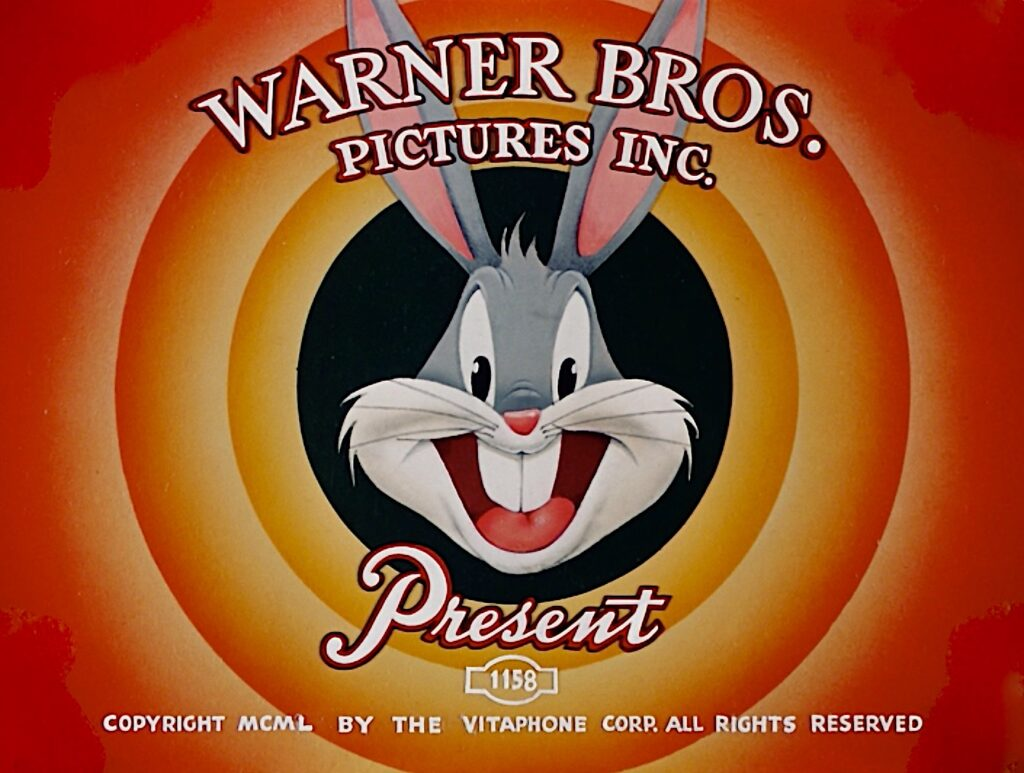 warner bros presentation screen with bugs bunny head centred in the middle