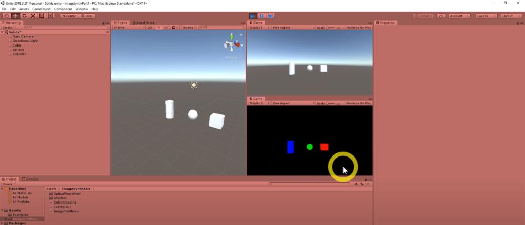 unity screenshot with VR geometry