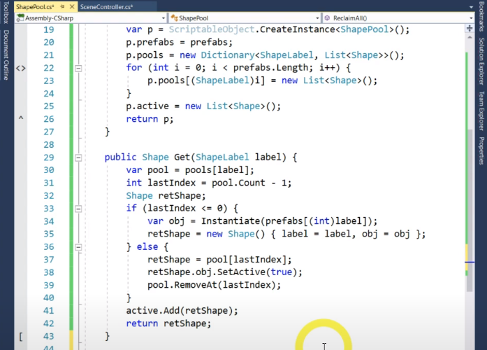 screenshot of a coding page